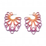 Victorian style circle side earrings in three colour powdercoat