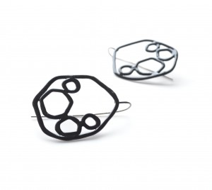 circle earrings powdercoated black from 2014 collection