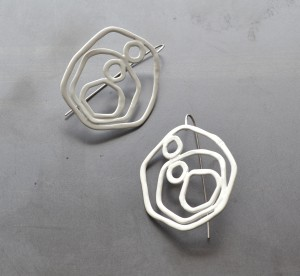 circle earrings powdercoated white