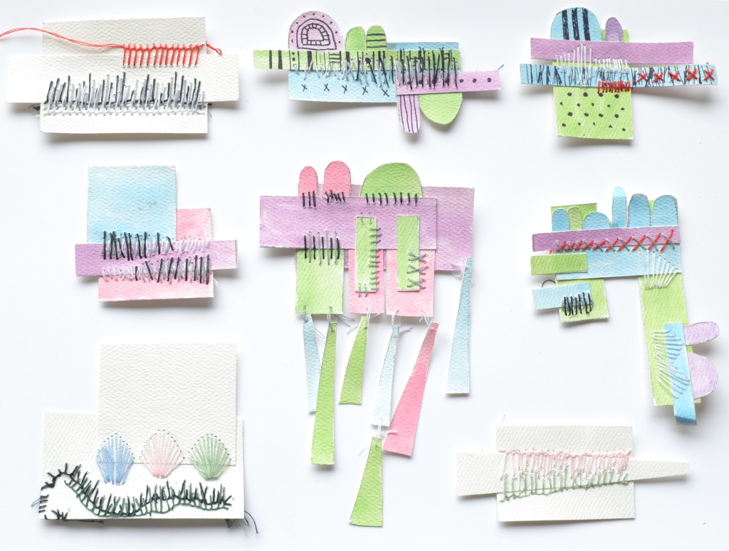 Contemporary Jewelry Exchange process, paper models