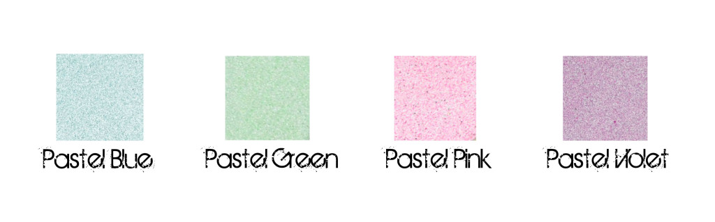 pastel colour samples for powdercoating, custom mixes