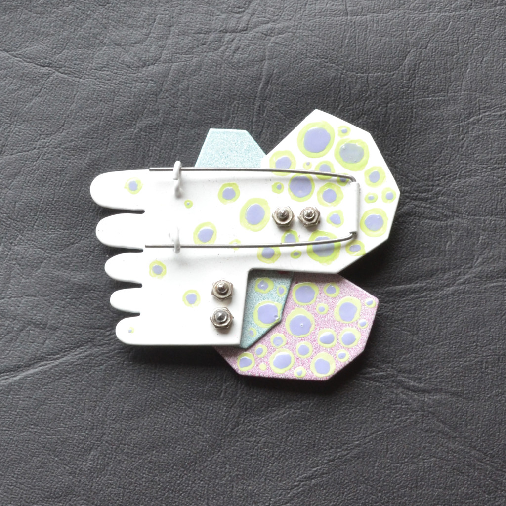 geometric brooch, white1 photo 2